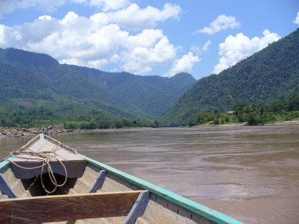 Crossing the Huallaga River in Peru via peki-peki.