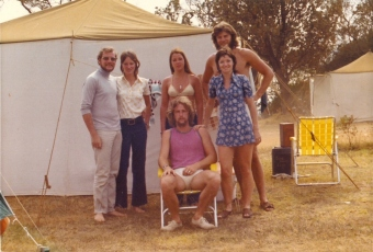 Camping at Malacoota, January 1, 1973.