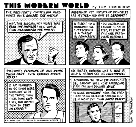 Tom Tomorrow offered a better story than the New York Times.